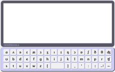 Виртуальная клавиатура для английской транскрипции